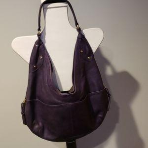 Zina Eva Saddle purple purse